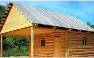 Крыша бани своими руками. Как построить крышу бани?