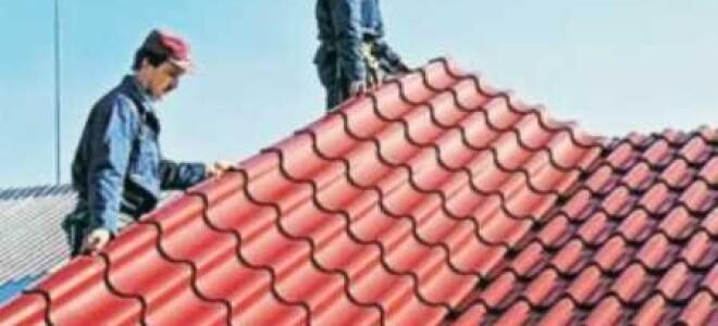 Кровля крыши металлочерепицей — достоинства материала